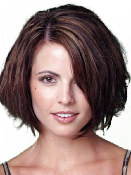 Human Hair Short Straight Lace Front Wig