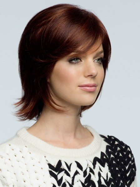 Short Straight Human Hair With Side Bangs