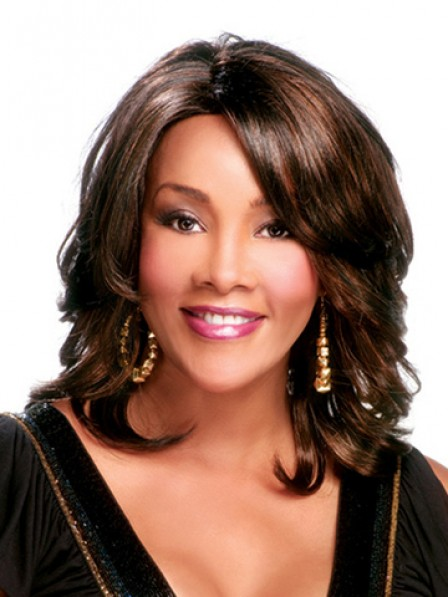 Synthetic Shoulder Length Curly Lace Front Wig