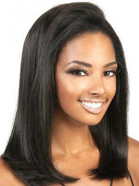Shoulder Length Straight Lace Front Wig
