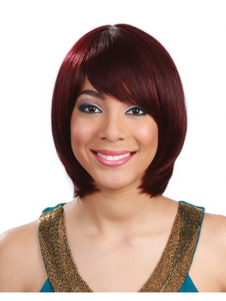 Human Hair Wig With Bangs Short Straight Women Wig
