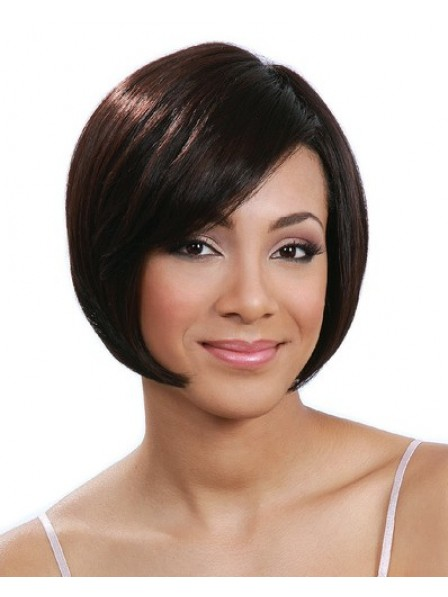 Natural Texture Bob Straight Style Wig