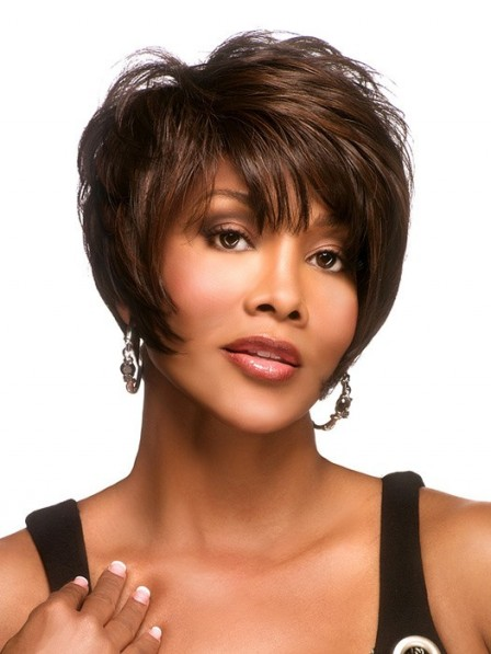 Short Capless Synthetic Wig With Bangs