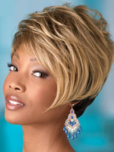 Boycuts Short Straight Synthetic Wig With Side Bangs