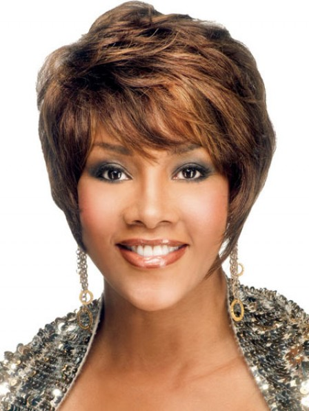 Short Straight Capless Wig With Bangs