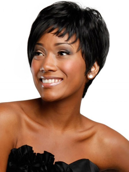 Cropped Straight Synthetic Hair Wig