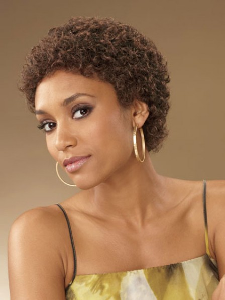 Cropped Curly Synthetic Hair Wig