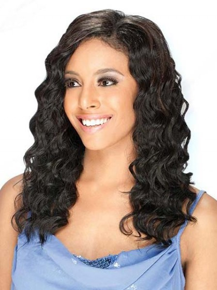 100% Human Hair Lace Front Long Wavy Women Hair Wig
