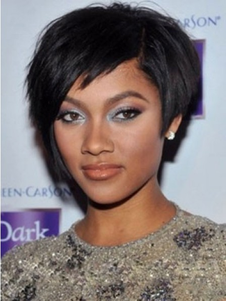 Short Black African American Wigs for Women