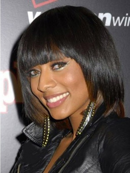 Cute Short Straight African American Wigs for Women