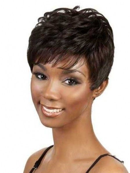 Synthetic Boycuts Straight Capless Women Hair Wig