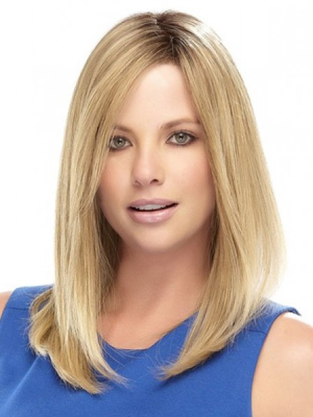 Shoulder Length Straight Lace Front Synthetic Hair Wig For Women
