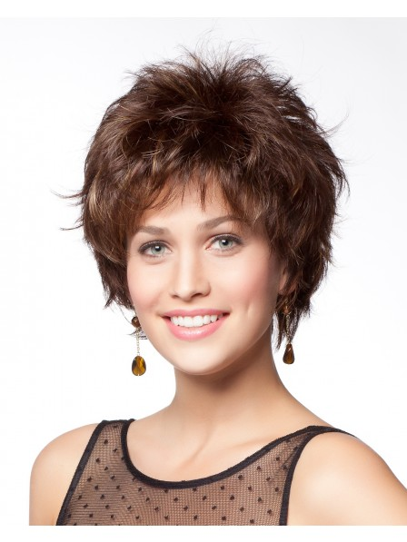 Short Layered Synthetic Capless Hair Wig