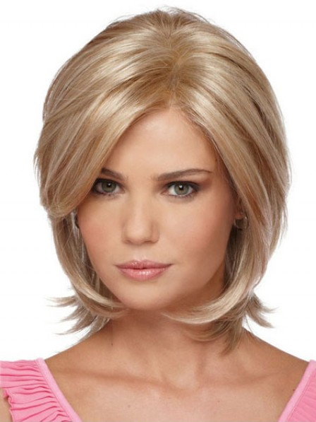 Lace Front Chin Length Straight Synthetic Hair Wigs For Women