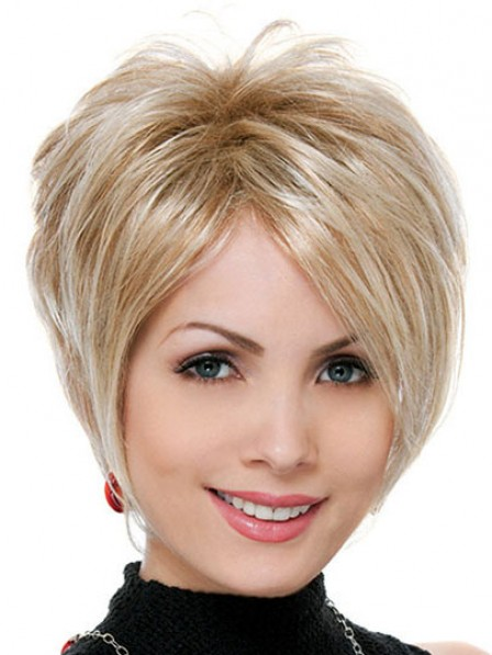 Synthetic Short Straight Hair Wig For Women