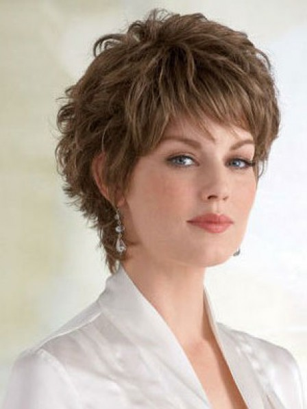 Wavy Synthetic Capless Wig For Women With Bangs