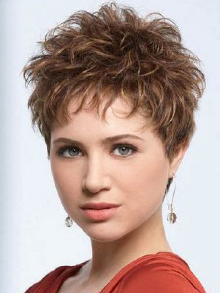 Synthetic Cropped Wavy Pixie Cut Women Hair Wig