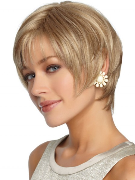 Women's Wigs Short Straight Synthetic Style Hair Full Wig