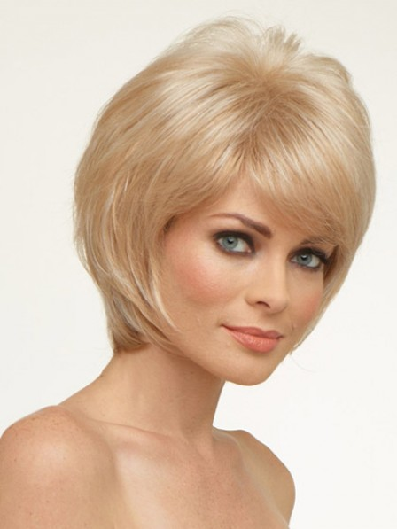 Short Straight Synthetic Lace Front Wig Natural Hair Wigs For Women
