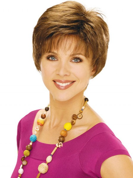 Short Boycuts Straight Synthetic Wig With Bangs For Women