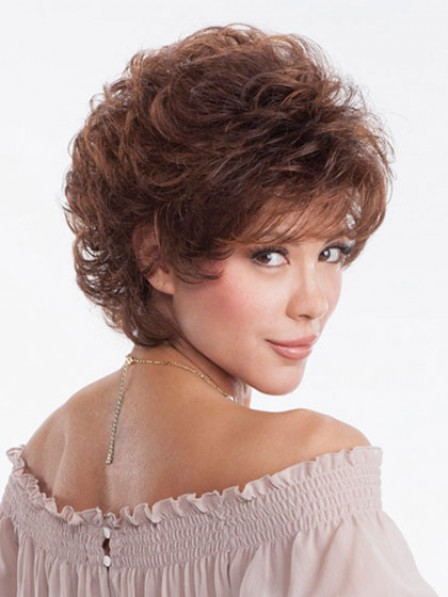 Short Wavy Full Synthetic Wig Women's Wigs With Bangs