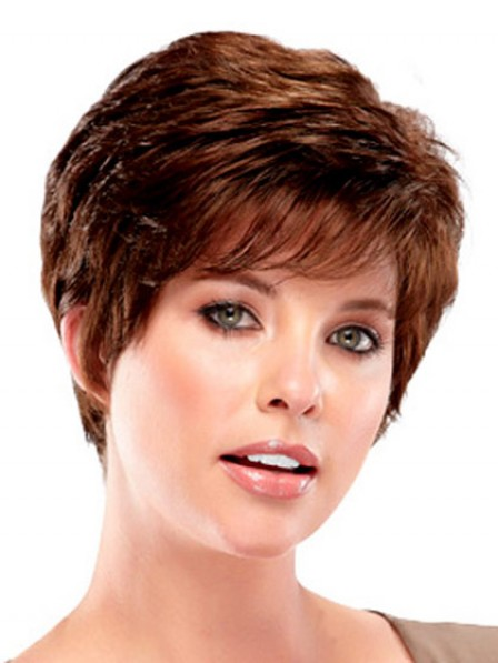 Short Wavy Synthetic Capless Wig With Bangs