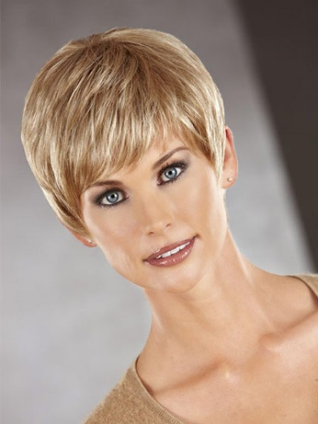 Short Boycuts with Cropped Synthetic Wig