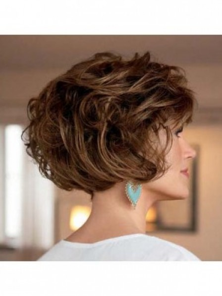 Classic Layered Short Wavy Wig Synthetic Women Hair Wig