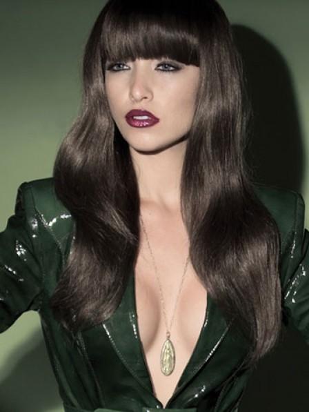 Women's Long Wavy Capless Hair Wig