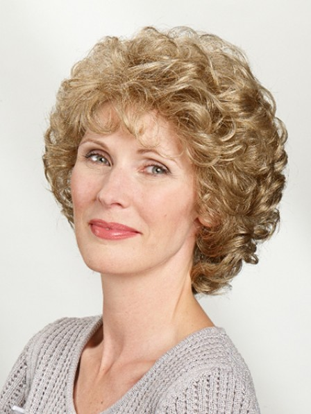 Short Curly Hair For Women Capless Wig