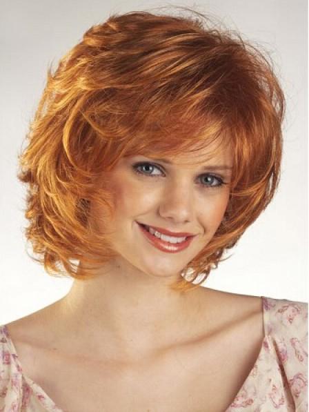 Women's Chin Length Wavy Capless Hair Wig