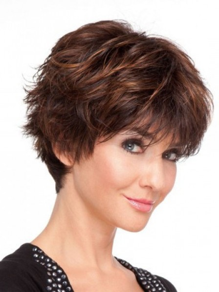Short Full Lace Straight Human Hair Wig For Women
