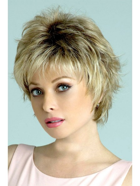 Synthetic Curly Layered Hair Wig With Bangs