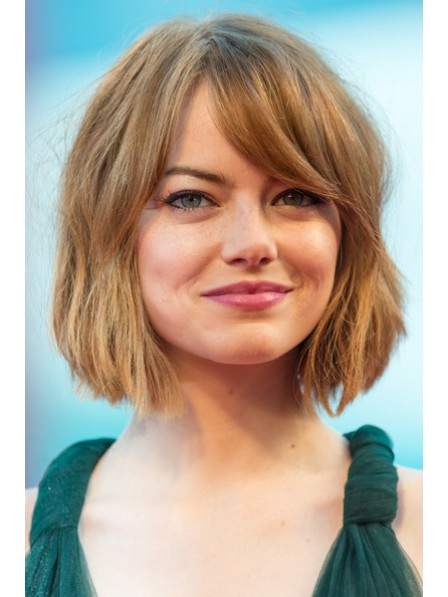 Chin Length Cut Lace Front Wig With Bangs