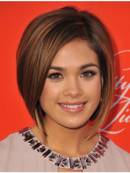 100% Human Hair Chin Length Straight Cut Wig