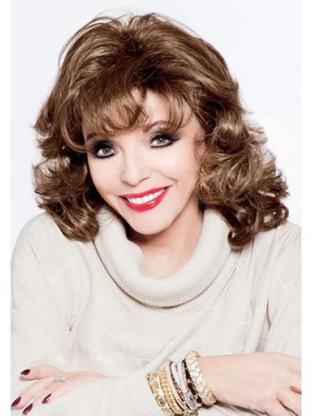 Human Hair With Bangs Shoulder Length Women Wig