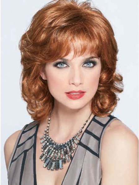 Wavy Synthetic Hair Wig With Bangs