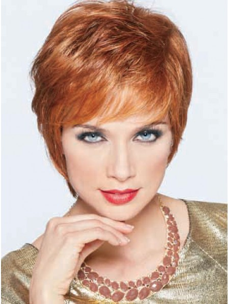 Short Straight With Side Bangs Women Wig