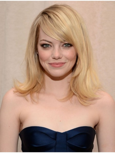 Human Hair Straight Blonde Hair Wig