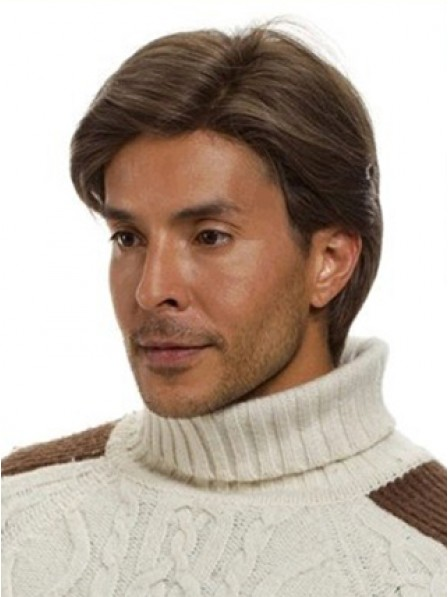 Lace Front Mono Top Monofilament Straight Mens Hair Wig