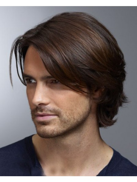 Mens Straight Lace Front Hair Wig
