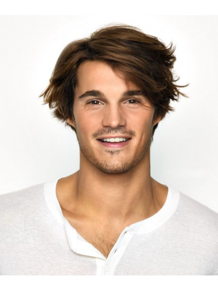 Lace Front Curly Synthetic Mens Hair Wig