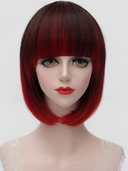 Bob Style Hair Full Bang Women's Synthetic Wig