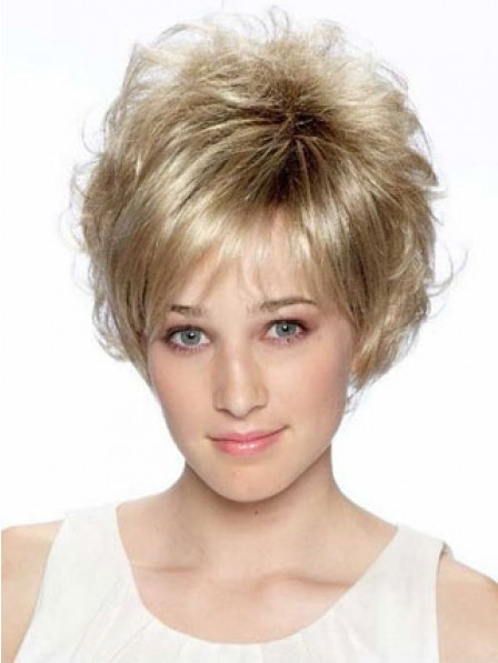 Wavy Synthetic Hair Wig For Women With Bangs