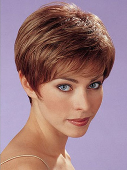 Synthetic Cropped Straight Women Hair Wig