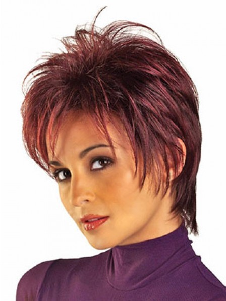 Short Layered Women Wig With Bangs