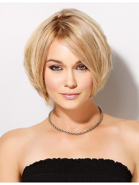 Chin Length Bob Cut Style Human Hair Lace Front Wig
