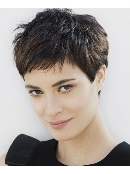 Synthetic Cropped Straight Capless Wig