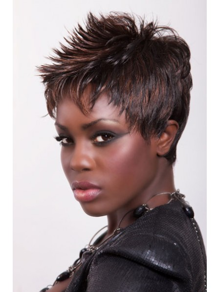 Straight Capless Synthetic Short Wigs