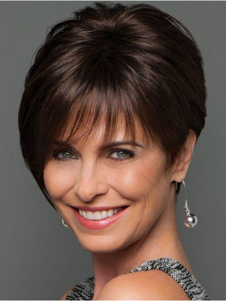 Short Straight Lace Front Mono Human Hair Wig